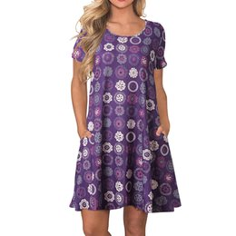 Teddies Dresses Australia - Bridesmaids Robe Longue Femme Women's Summer Party Dresses Short Sleeve Swing Dress With Pockets S-2XL Dolls Teddy Lenceria Sexy