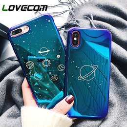 universe case NZ - LOVECOM Universe Planet Case For iPhone XS XR XS Max X 8 7 6 6S Plus Retro Blu-Ray Fashion Cartoon Phone Back Cover Cases Gift