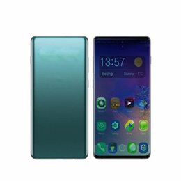 Discount android smartphone analog tv - New arrive 6.3inch Goophone 10 plus 1GB RAM 8GB ROM show 4gb 128gb Cellphone MT6580P Quad core fake 4g lte Unlocked smar