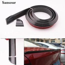 Trunk spoilers online shopping - Sansour Custom Flap Car Rear Spoiler Strip Universal Rear Trunk Lip Spoiler