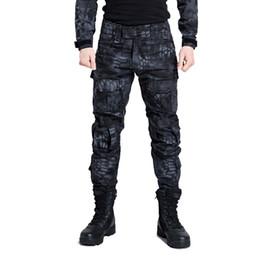 Pantaloni tattici militari uomini camuffamento cargo softair paintball pantaloni SWAT esercito soldato speciale cacciatore campo di lavoro pantaloni da combattimento # 387740 in Offerta