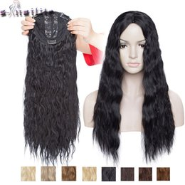 synthetic hair bang hairpiece NZ - Hair Synthetic Clip-in One Piece(For White) S-noilite 20inch 3.5*2 water wave topper hairpiece clip in one piece hair no bang