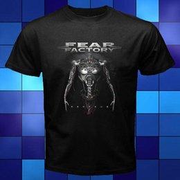 Ingrosso Nuovo Fear Factory Genexus Heavy Metal Rock Black T-shirt Taglia S M L XL 2XL 3XL Moda classico unico uomini del cotone