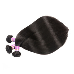 Discount weave wefts Straight hair wefts Brazilian virgin human hair 8-30 inch available 100% unprocessed hair weaves extensions natural colo