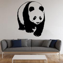 $enCountryForm.capitalKeyWord Australia - 58*73CM Panda Wall Decal PVC Cute Animal Decorative Sticker Murals for Living Room Kids Room Removable Multiple Colors
