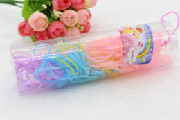 $enCountryForm.capitalKeyWord Australia - Wholesale Kids Tiny Hair Rubber Bands Colourful Hair Elastic Ties Ponytail Holder Ponies Scrunchies for Baby Girl Rubber Band 77