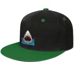 $enCountryForm.capitalKeyWord UK - Shark Jaws Shark tooth art mens and women flat brim hats Green cheap cool custom hats plain make your own fashion custom baseball personal