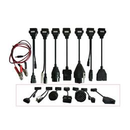Araba için 2019 dapter Kabloları OBD2 OBDII Arabalar Teşhis Arayüz Aracı Tam Set 8 Araba Kabloları Için TCS CDP Pro artı Kablo indirimde