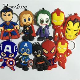 $enCountryForm.capitalKeyWord Australia - New Marvel 20pca Mix The Avengers Pvc Keychain Captain America Spider Thor Iron Man Man Llavero Lovely Classic Fashion Cosplay Llavero