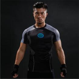 $enCountryForm.capitalKeyWord Australia - Free Shipping Short Sleeve 3D T Shirt Men T-Shirt Male Crossfit Tee Captain America t shirt Men Fitness Compression Shirt 4XL J15
