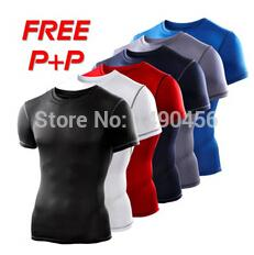 $enCountryForm.capitalKeyWord Australia - Mens Compression Base Layers Under Tops Fitness T Shirts Skins Gear Wear Thermal Tees High Flexibility Size S-xxl