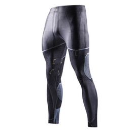 men full bodysuit UK - The latest autumn sports trousers marvel marvel men's bodysuit 3D printed compression trendy men's trousers