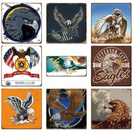 Painting eagles online shopping - 30 cm Eagle Animal Vintage Tin Signs Retro Metal Sign Antique Imitation Iron Plate Painting The Wall Of Bar Cafe Pub Shop Home Decor