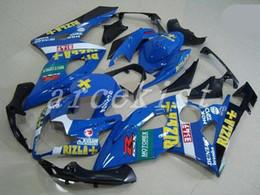Kit Rizla Fairings NZ - 3gifts+Seat cowl New Fairings Kits For SUZUKI GSXR1000 K5 05-06 GSXR 1000 GSX R1000 GSX-R1000 K5 05 06 2005 2006 Fairing custom blue RIZLA+