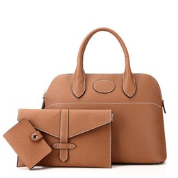 High End Hand Bags Australia - Fashion Portable Composite Bags Three Pcs Bags Per Set Classic Simple Shoulder Bag High End Quality Women Hand Bags