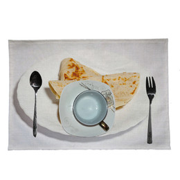 restaurant table mats NZ - Creative Mexican Burrito Placemat Home Kitchen Restaurant Bar Placemat Table Coasters Manteles Individuales De Mesa Table Mat
