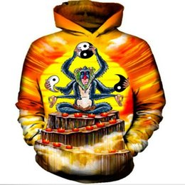 Men's Clothing Lovely An Impossible Fusion Between Monkey And Turtle Fleece Hoodies Rock Anime Design Creative Casual Punk Women Men Sweatshirts