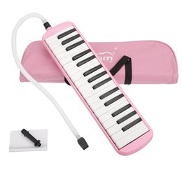key melodica UK - New 32 Key Melodica with Blowpipe & Blow Pipe for Student Harmonica Children Toys Musical Instruments Pink