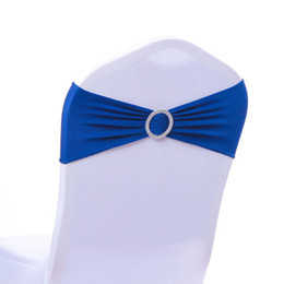 $enCountryForm.capitalKeyWord UK - Wedding Chair Cover Sashes Elastic Spandex Chair Band Bow With Buckle for Weddings Event Party Accessories