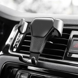 gravity cell phone holder Australia - Gravity Car Air Vent Mount Cradle Holder Stand for iPhone Mobile Cell Phone GPS mounts