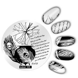 $enCountryForm.capitalKeyWord Australia - Hehe Series Nail Template Nail Art Image Stamp Women Cartoon Pretty Cute Round Stamping Plates Manicure Template