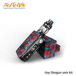 China Authentic IJOY Shogun Univ Kit 180W With 5.5ml IJOY Katana Subohm Tank Double-sided Resin Panels Compatible with dual 18650 Batteries cheap side battery suppliers