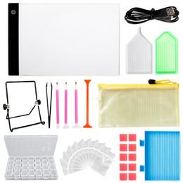$enCountryForm.capitalKeyWord UK - Yazi DIY Diamond Painting Tools Set Dimmable A4 LED Lighted Diamond Painting Board Diamond Storage Box Bags Drill Pen Set
