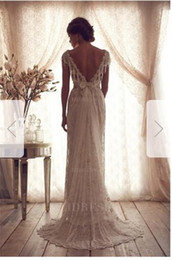 $enCountryForm.capitalKeyWord Australia - Sheath Column V-neck Sweep Brush Train Lace Wedding Dress002