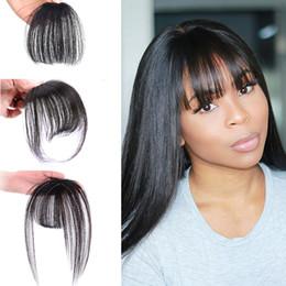 Vente en gros Fashion One Piece Hair Clip dans les cheveux Bangs / Full Fringe / Extensions de cheveux pour les femmes 5 couleurs