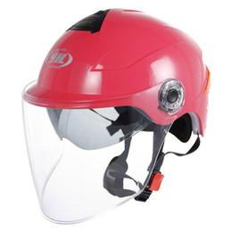 Yohe Helmet Half Face Australia - Free Shipping YOHE YH-357-G motorcycle Helmet Half Face motorbike motorcycle helmet electric bicycle helmets In the summer with dual lens