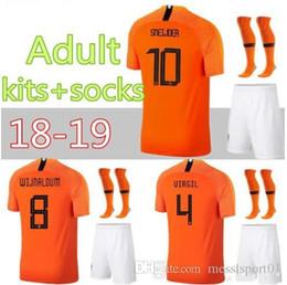 18 19 Netherlands soccer jersey Uniforms ROBBEN 2018 2019 V.PERSIE Holland  SNEIJDER Soccer Sets BERGWIJN Netherlands MEMPHIS Football Kits 07c9f43ba