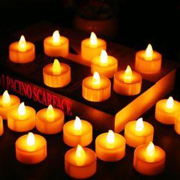$enCountryForm.capitalKeyWord Australia - 24pcs Batteries Included Tea Light Flickering Flameless Led Candles Bougie Velas Electric Candles Chandelle Weddings Decoration T8190620