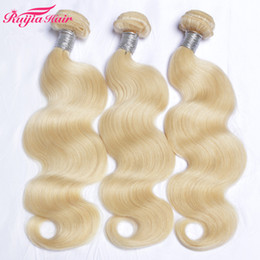 $enCountryForm.capitalKeyWord Australia - Fedex DHL free Body wave blonde Hair Weave Double Wefts 100g pc 300gr Lot 613 Russian Blonde hair Color Human Remy Hair Extensions