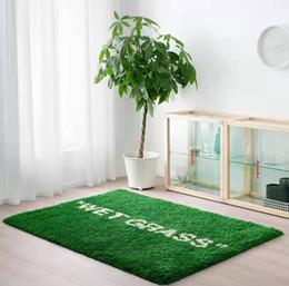 Wholesale 133cm*195cm Ki x vg Joint MaRkeRAd WET GRASS Carpet Plush Floor Mat Parlor Bedroom Large Rugs Supplier on Sale