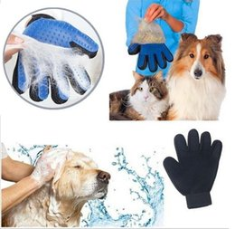 leave hair comb NZ - 500pcs Pet hair glove Comb Pet Dog Cat Grooming Cleaning Glove Deshedding left Right Hand Hair Removal Brush Promote Blood Circulation