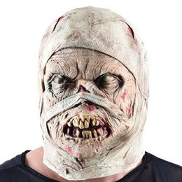 costume house 2019 - Halloween Horror Mask Mummy Mask Disgusting Rot Face Headgear Zombie Costume Party Haunted House Horror Props Frighten P