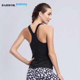 Reflective T Shirts NZ - Barbok Fitness Yoga Tops Breathable Sports wear Women T Shirt Quick Drying Running Training Clothing Sleeveless Gym Yoga Vest #316293