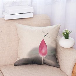 $enCountryForm.capitalKeyWord Australia - Hot Luxury Flower Vase Pillow Cushion Cover Plant Home Decor Sofa Vintage Modern Cusion Cover PLD