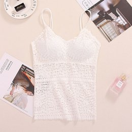 natural light tube UK - Summer sexy camisole female wrapped chest anti-light Tube top underwear lace bottoming belt chest pad vest one size