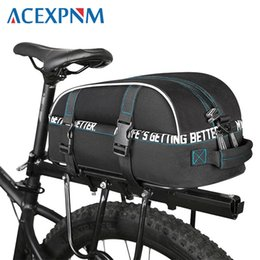 Pack Supplies Australia - ACEXPNM Waterproof Cycling Bag Bike Rear Rack Bags Bicycle Shelf Utility Pocket Shoulder Bag Pack Riding Supplies Accessories 8L #79563