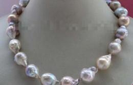 Edison Chain Australia - FREE SHIPPING + Natural Multicolor Baroque Edison Reborn Keshi Pearl necklace