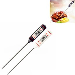 Digital Meat Thermometer Food Grade LCD Habor BBQ Hold Function for Kitchen Cooking tool Food Grill BBQ Meat Candy Milk Water FFA2834 on Sale