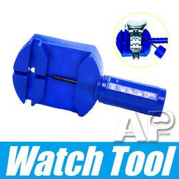 Pin remover rePair online shopping - Top selling new Plastic Portable Blue Mini Watch Band Link Pin Remover Watch Repair Tools for Bracelet Strap with retail pack
