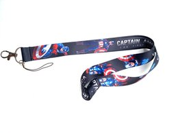 $enCountryForm.capitalKeyWord UK - New Mix Style Superhero Captain America Lanyard NEW Keyring ID Holder Phone Strap ER-89