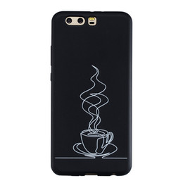 White Simple Phone Case UK - Coque Fundas Cover For Huawei P10 P10 Lite P10 Plus Case Black Soft TPU Matte Simple strokes of personality Abstract painting Phone Case