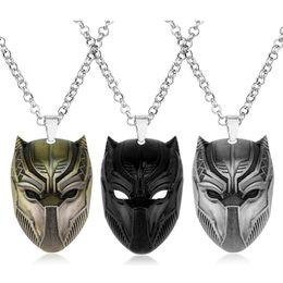 $enCountryForm.capitalKeyWord Australia - Endgame Keychain Black Panther Necklace Wakanda King T'Challa Black Panther Pendant Necklace Cosplay Jewelry