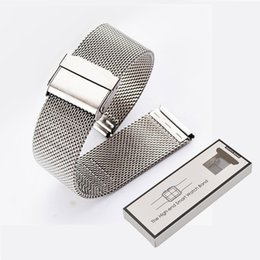 Smart watcheS pebble online shopping - Milanese Strap for Pebble time round pebble2 Nokia Band for Ticwatch E Moto360 MM Watchband Stainless Steel Bracelet with Retail Package