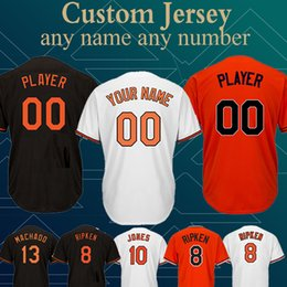 f55025bf9 Customized Baltimore Jersey Oriol 12 Roberto Alomar 8 Cal Ripken Jr. 100%  Stitched High-quality Top quality