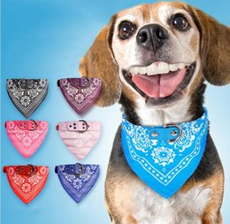 $enCountryForm.capitalKeyWord Australia - Triangle Bibs Collar PU Leather Pet Collar Cool Triangle Scarf Dog Collar Adjustable Pet Accessories Puppy Cat Scarf 5 Sizes