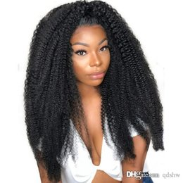 glueless full lace wig afro curly Australia - Afro Kinky Lace Front Wig Pre Plucked Glueless Brazilian Virgin Glueless Afro Kinky Curly Full Lace Wigs For Black Women